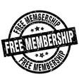free membership round grunge black stamp vector image vector image