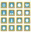 fruit icons azure vector image vector image