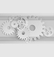 gears mechanism industrial grey background vector image
