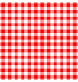 gingham red seamless pattern checkered plaid vector image