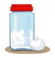 glass jar for snow icon cartoon style vector image