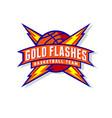 gold flashes basketball team logo basketball team vector image