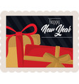 happy new year 2021 lettering and gift boxes vector image vector image