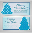 happy new year and merry christmas banners vector image