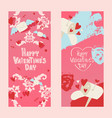 happy valentines day invintation card with vector image vector image