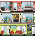 Home and office cleaning interior poster vector image