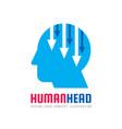 human head logo concept vector image