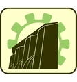 hydroelectric power station and gear icons vector image