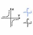 hyperbola plot composition icon circles vector image vector image