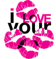I love your kisses vector | Price: 1 Credit (USD $1)
