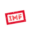 IMF rubber stamp vector image
