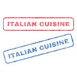 italian cuisine textile stamps vector image