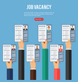 job agency employment and hiring concept vector image