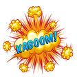 Kaboom vector image vector image