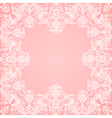 lace floral frame vector image vector image