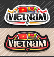 logo for vietnam vector image