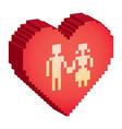 Love hearts vector image