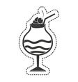 milkshake sweet isolated icon vector image vector image