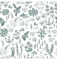 modern floral seamless pattern with northern vector image
