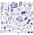 music party - doodles vector image vector image