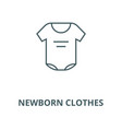 newborn clothes line icon linear concept vector image vector image