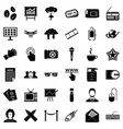 newspaper icons set simple style vector image