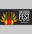oktoberfest holiday beer background bavarian vector image