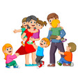 parents are playing with their children vector image vector image