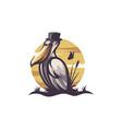 pelican logo design vector image vector image