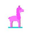 pink lama vector image