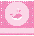 pink whale vector image vector image