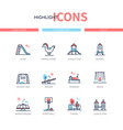 playground elements - line design style icons set vector image vector image