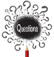 Question marks designs vector image