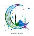 ramadan kareem background in grunge style vector image