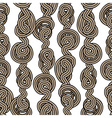 Rope tangled seamless pattern vector image