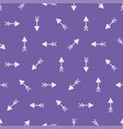 seamless cute pattern of arrows colored vector image vector image