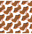 seamless pattern with bright leopard fashion shoes vector image vector image