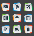 set of simple conveyance icons vector image vector image