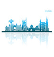 sights of dubai abstract urban landscape vector image vector image