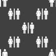 silhouette of a man and a woman icon sign Seamless vector image