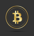 simple bitcoin icon isolated on grey background vector image vector image
