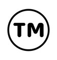sm symbol mark icon vector image vector image