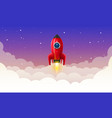 space rocket launch art creative vector image vector image