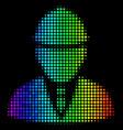 spectrum dot engineer icon vector image vector image