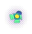 Studio lighting icon comics style vector image vector image