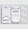 template white flyer size of 210x99 mm vector image vector image