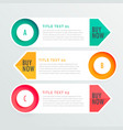 three banner infographic options vector image vector image