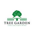 tree plant garden logo vector image vector image