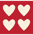 Valentine cards from sheet of paper vector image vector image