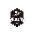 vintage explorer space astronaut mascot logo icon vector image vector image